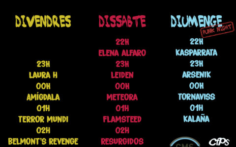 [6-7-8/09/19] – Concerts Barraca CMS a la Festa Major Sabadell