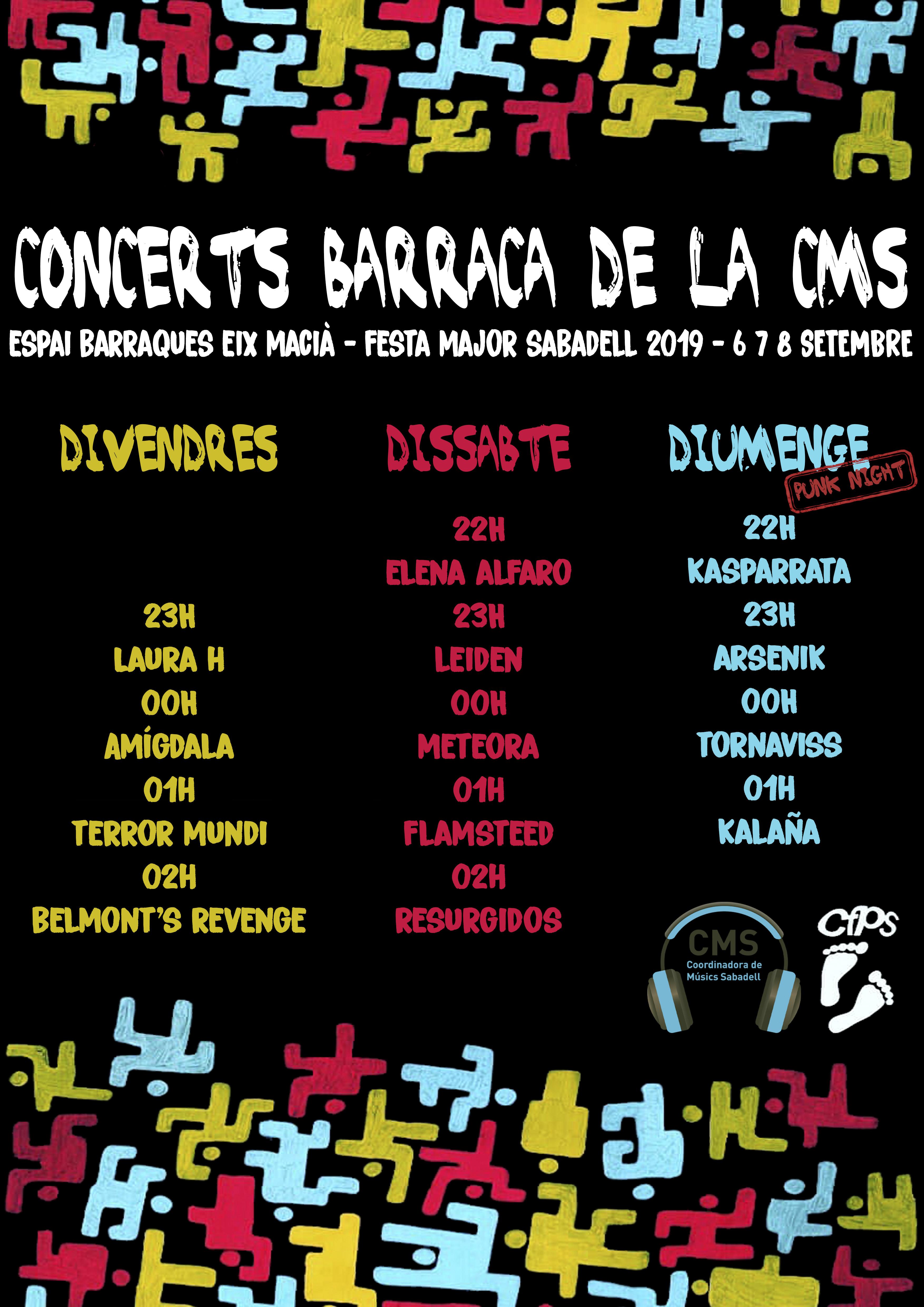 Concerts Barraca CMS a la Festa Major Sabadell